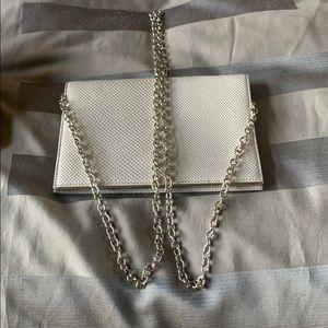 Silver crossbody bag!